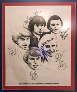 Signed Paul Revere and the Raiders poster, circa 1966.