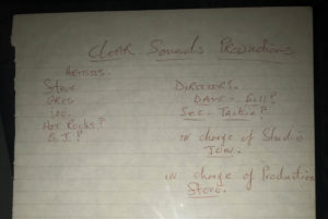 Part of a page from one of Steve Marriott's notebooks.